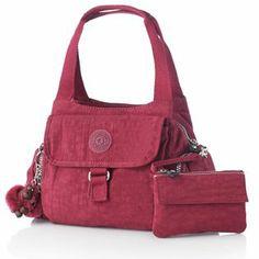 Kipling Multi Pocket Shoulder Bag & Symi Small Purse Set