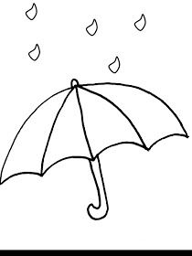 Weather coloring pages for preschool, kindergarten and elementary school children to print and color. Umbrella Coloring Page, Sun Coloring Pages, Umbrella Template, Shell Tattoos, Rain Pictures, Weather Crafts, Preschool Art Projects, Bujo Doodles, Felt Quiet Books