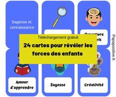 24 cartes pour aider les enfants à développer leurs forces Papa Positive, Adhd, Self Esteem, Self Confidence, Children, Cards