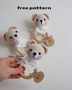 2019 All Best Amigurumi Crochet Patterns - Amigurumi Free Pattern The most admired amigurumi crochet toy models in 2019 are waiting for you in this article. The most beautiful amigurumi toy patterns are all on this site.Baby crochet teethers and pacifiers Crochet Baby Toys, Crochet Bunny, Crochet Patterns Amigurumi, Crochet Dolls, Baby Knitting, Free Crochet, Knitting Patterns, Handmade Baby, Handmade Toys