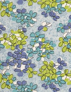 Vintage fabric remnant floral quilting cotton