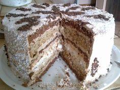 tort fantazja Toasted Coconut, Coconut Cream, How To Make Cake, Food To Make, Almond Joy Cake, Polish Desserts, Blueberry Cheesecake, Sliced Almonds, Drip Cakes