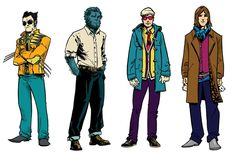 How your superheroes should dress when off-duty :X-Men Fashion Illustrations By Andy MacDonald