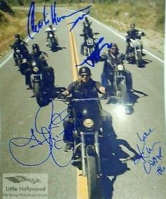 This is a great REPRINT of a signed photo. Sons Of Anarchy Cast, Luster, Legends, It Cast, Clock, Hollywood, Signs, Tv, Ebay