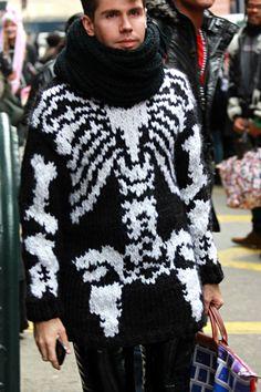 Jeremy Scott Knit Skeleton Sweater