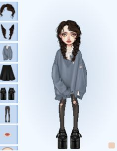 Edgy Outfits, Pretty Outfits, Dress Outfits, Cute Outfits, Fashion Outfits, Virtual Fashion, 2000s Fashion, Ootd, Aesthetic Clothes