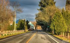 ~This Road~ By Ernie Kasper #road   #farmland   #lines   #architecture   #buildings   #trees   #outdoors   #shadows   #peaceful