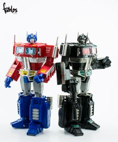 Transformers Masterpiece Optimus Prime and MP-10B Black Convoy