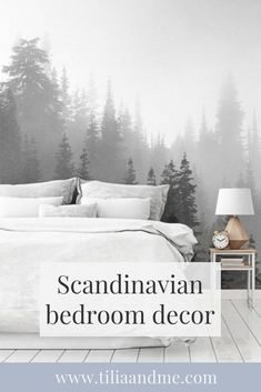 Scandinavian bedroom decor inspiration perfect for any one who loves the Nordic, minimalist look and wants to create a beautiful, calm and cozy atmosphere in your bedroom. Click through to check out inspiration from unique products Scandinavian Bedroom Decor, Nordic Bedroom, Scandinavian Home, Minimalist Scandinavian, Minimalist House Design, Minimalist Home Decor, Minimalist Interior, Nordic Interior, Interior Design