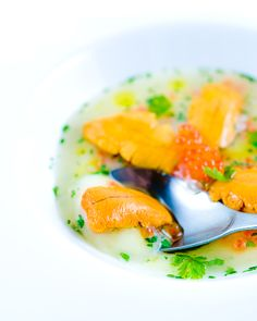 Sea urchin in lobster gelée with cauliflower cream | Zen Can Cook