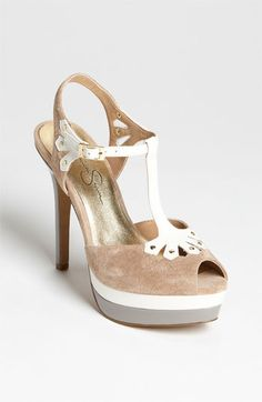 This sandal pump evokes some sort of nostalgia in me for the early 1900's. $98 Jessica Simpson