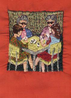♒ Enchanting Embroidery ♒ embroidered art - a game of pan by Michelle Kingdom, via Flickr