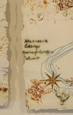 Anita McIntyre Series I  Ceramic, paper, porcelain,monoprint drawing, screenprint, 2014. Strathnairn by the Lake exhibition, Belconnen Arts Centre, August-Sept 2014