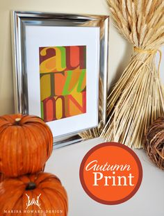 Fall is here. Learn how to design a colourful Autumn Print.
