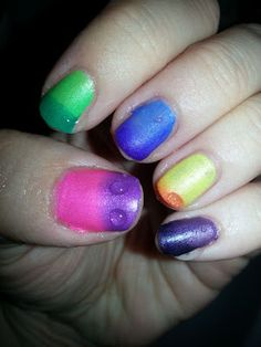 from thumb to pinky: Giggly, Impulsive, Fascinated, Daring and Provocative. Swatches by Leah at My Nail Polish Is Poppin