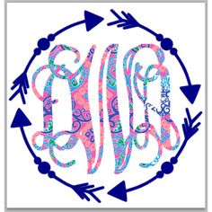 Lilly Pulitzer Inspired Arrow Decal for Car Laptop Cup Cell Phone Yeti... ($9.99) ❤ liked on Polyvore featuring home & living, home décor and light blue