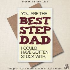 Youu0027re The Best Step Dad - Fatheru0027s Day Card - Funny Card - Birthday Card - Card For Stepdad - Snark  sc 1 st  Pinterest & 13 Best Sean images | Dad gifts Gifts for dad Happy fathers day