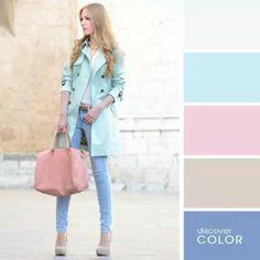 Composição de cores para o inverno
