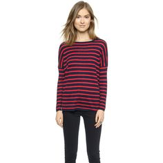 SUNDRY Stripe Sweater ($125) ❤ liked on Polyvore
