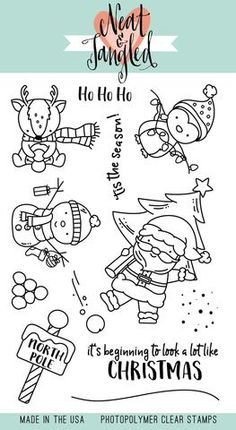 Neat and Tangled SANTA'S WONDERLAND Clear Stamp Set zoom image