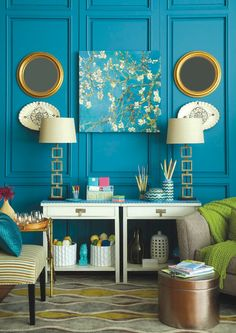 not the color scheme, just like this example of how the room looks grown up despite the many colorful aspects