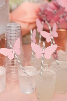 Weave in these magical and breathtaking butterfly wedding ideas on your wedding gown, reception decor, and even the cake! A butterfly wedding is one of the most magical and romantic wedding themes ever. Butterfly Garden Party, Butterfly Birthday Party, Butterfly Baby Shower, Fairy Birthday Party, Butterfly Wedding, First Birthday Parties, Birthday Party Themes, Girl Birthday, First Birthdays