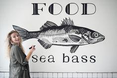 753 vind-ik-leuks, 29 reacties - Karlijn van de Wier (@karlijnvandewier) op Instagram: 'Wow wow wow! Dank jullie voor je toffe reacties en het (gaan) volgen. Wat een heerlijkheid, dat…' New Kitchen, Kitchen Dining, Cafe Restaurant, Art Reference, Sea Bass, Home Kitchens, New Homes, House Design, Fish