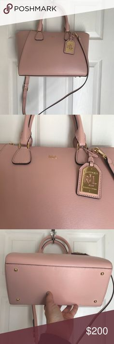 Ralph Lauren Pink Pastel Lowell Stefanie Satchel Like new with one mark on handle.  Very small.  Tags have been removed I am using this beauty for the week and then will go into storage with the rest of my items. Lauren Ralph Lauren Bags Satchels
