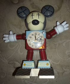 Vintage Mickey Mouse Wall Clock With Moving Eyes Western