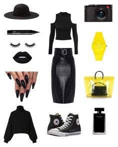 A fashion look from March 2018 featuring long shirts, pullover sweater and pencil skirts. Browse and shop related looks. Black N Yellow, Dsquared2, Narciso Rodriguez, Leica, Morphe, Shoe Bag, Nyx, Diesel, Polyvore