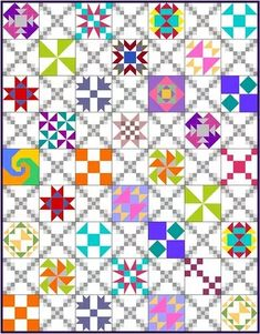 Skill Builder Series: Part 12 – Alternate Blocks – Piecemeal Quilts Star Quilt Blocks, Star Quilts, Scrappy Quilts, Quilt Block Patterns, Cross Stitch Patterns, Patchwork Quilting, Quilting Projects, Quilting Designs, Quilting Tips