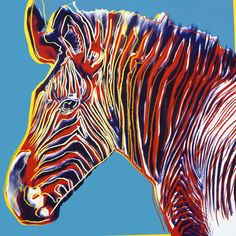 Grevy's Zebra (1983), Andy Warhol's psychedelic endangered animals