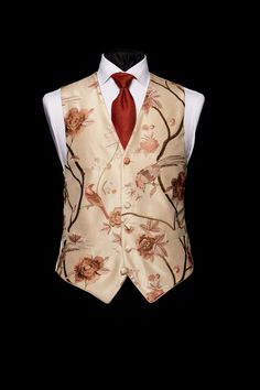 Ivory silk limited edition embroidered waistcoat with light coloured pink birds by Neal & Palmer Nehru Jacket For Men, Nehru Jackets, Double Breasted Waistcoat, Men's Waistcoat, Der Gentleman, Gentleman Style, Gentlemans Club, Indian Men Fashion, Mens Fashion