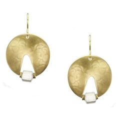 Medium Sliced Disc and Bead Earring