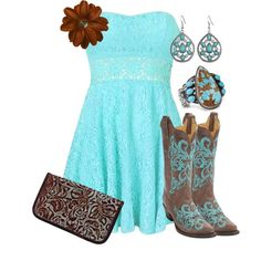 """Take the Keys"" Outfit Country Girl Outfits, Country Dresses, Country Fashion, Cowgirl Outfits, Country Girls, Country Prom, Country Wear, Cowgirl Clothing, Cowgirl Fashion"