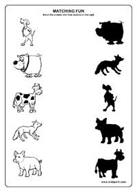 shadow fun worksheets activity sheets for kids funs worksheets - Fun Sheets For Kids