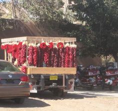 Red Chile Ristras are an iconic sight in Santa Fe and all over New Mexico