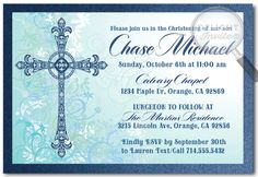 Traditional Boy Baptism Christening Invitations [DI-827] : Custom Invitations and Announcements for all Occasions, by Delight Invite, Boy Baptism Invitations, boy theme baptism christening invitations, christening invite ideas, baptism party theme, photo baptism invitations, professionally printed baptism invites, hand-mounted, 2 piece metallic card stock baptism invitations