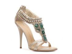 Giuseppe Zanotti Metallic Leather Stone Sandal #DSW and #LUXE810 Cleopatra would be jealous.