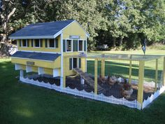 More and more we're seeing chickens in suburbia, but up until now, the coops have been the same old ones. Add style and flair to your healthy living choices and match the coop to the home!