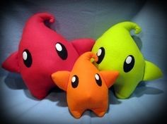 Mario Galaxy Luma Plushies by Penguinotic