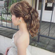 王道アップスタイルのふわふわポニーテルのブライダルヘアまとめ | marry[マリー] Wedding Hairstyles, Bridal Hairstyle, Long Hair Styles, Beauty, Instagram, Fashion, Beleza, Moda, Long Hairstyle