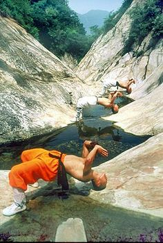 Authentic Shaolin Temple Monastic Kungfu monks teach traditional Kungfu techniques