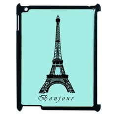 Paris Eiffel Tower ipad 2 case ipad 3 case hard cover - Bonjour