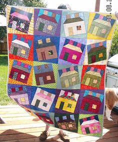 Our Scrap Quilts Photo Gallery Offers Scrap Quilting Tips and Inspiration: Happy Scrappy Houses Quilt