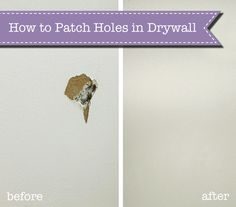 How to Patch Holes in Drywall - NV