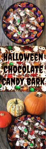 Foodie Quine: Halloween Chocolate Candy Bark