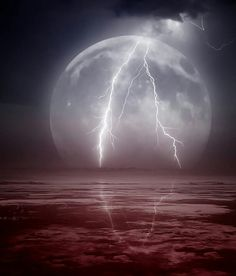 Lightning on the Moon...... great shot!