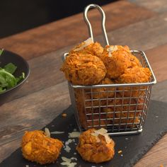 How to make Sweet Potato Parmesan Tater Tots.