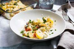 Aardappel- bloemkoolgratin met oude kaas - Koken met Aanbiedingen